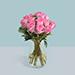Roses Arrangement In A Glass Vase