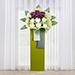 Eternal Condolence Mixed Flowers Green Stand