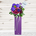 Mixed Flowers Purple Balloons Cardboard Stand
