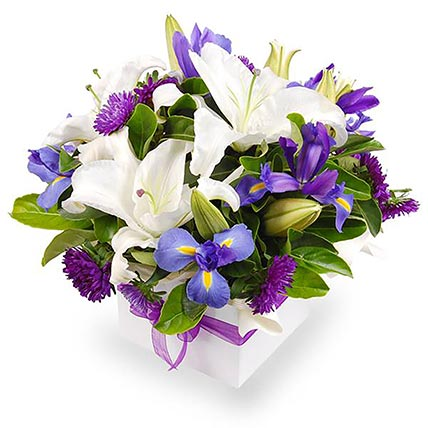 Mixed Stunning Flowers In A Box