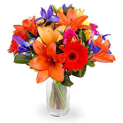Modern Bouquet of Bright Flowers