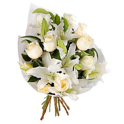 Roses & Lilies Bouquet Arrangement