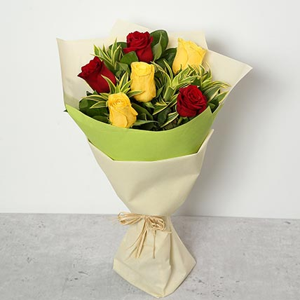 Red and Yellow Roses Bouquet BH