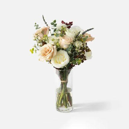 Blissful Assorted Rose Vase Arrangement