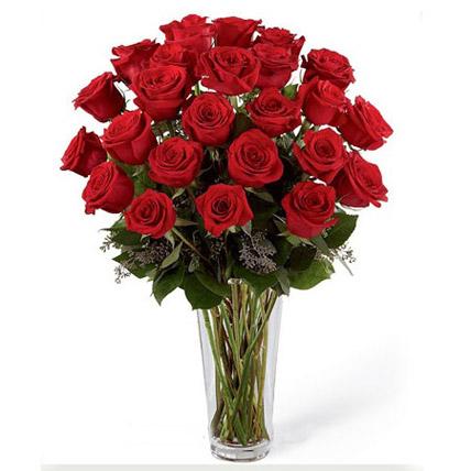 24 Red Roses Arrangement EG