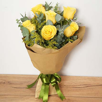 Bouquet Of Yellow Roses EG