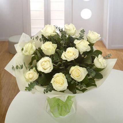 White Roses Bouquet EG