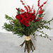 Red Roses and Ilex Berries Bouquet EG