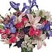 Bunch of Mixed Exotic Flowers In Vase