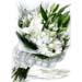 Funeral Bunch of Light Coloured Lilies & Gerberas