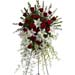Funeral Spray of Roses Lilies & Mixed Flowers