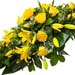 Funeral Spray of Yellow Roses & Lilies