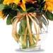 Sunshine Bunch of Sunflowers In Glass Vase