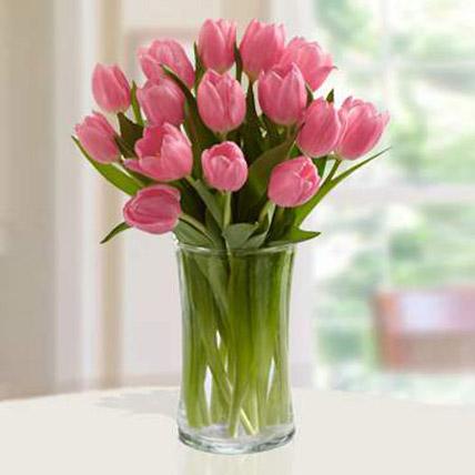 Pink Tulips Arrangement JD