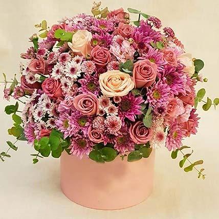 Colourful Carnation & Rose Box