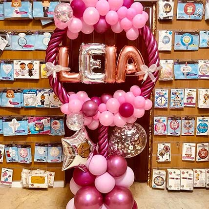 Pink Balloon Arch For Baby Girl