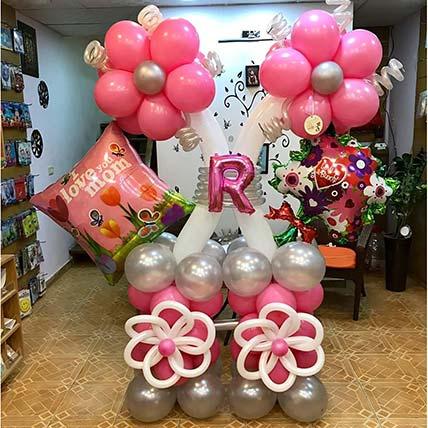 Sparkling Happy Birthday Balloon Arrangement