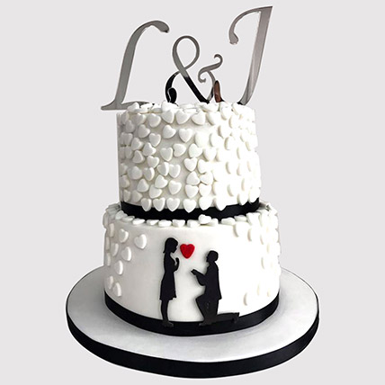 2 Layered Couple In Love Cake