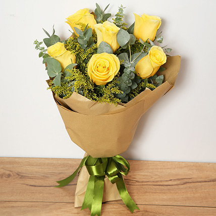 Bouquet Of Yellow Roses KT