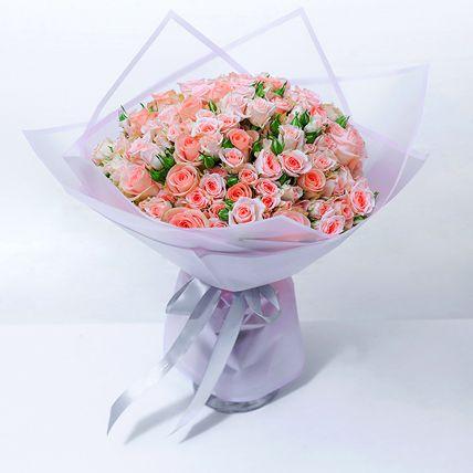 Exotic Peach Spray Roses Bouquet