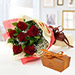 6 Red Roses and Godiva Chocolate Combo KT