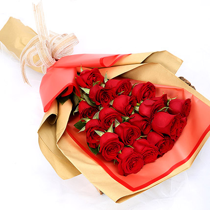 20 Passionate Red Roses Bunch