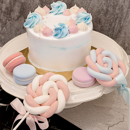 5in Round Blue Forest Cake