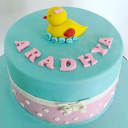 Adorable Duck Lemon Cake 8 inches Eggless