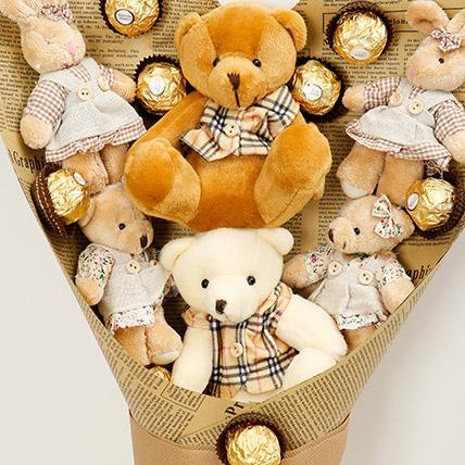 Chocolates and Teddy Bear Bouquet