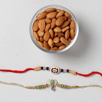 Crunchy Almonds With Colorful Rakhis