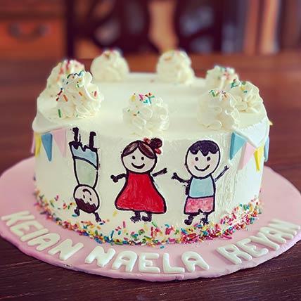 Happy Kids Chocolate Cake 8 inches Eggless