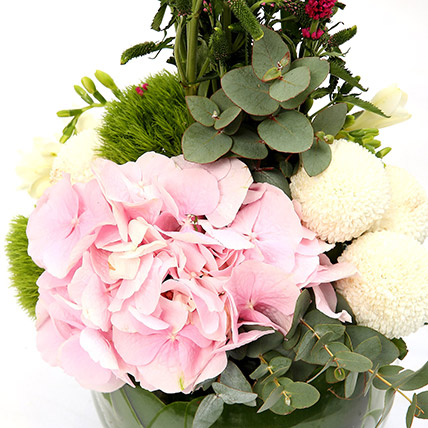 Hydrangea and Veronicas Exotic Flower Arrangement