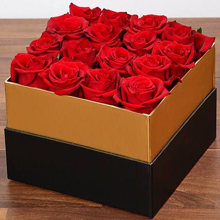 Lovely Red Rose Box