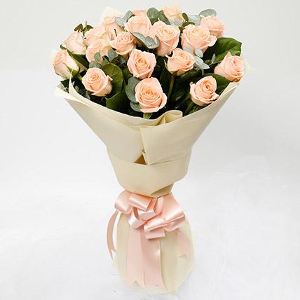 Peach Love 20 Roses Bouquet