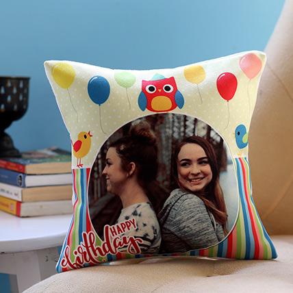 Personalised Colourful Birthday Cushion