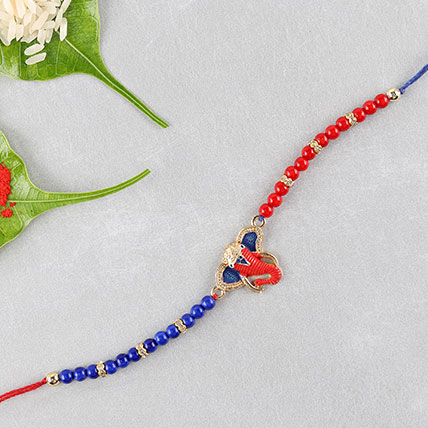 Red And Blue Ganesha Rakhi