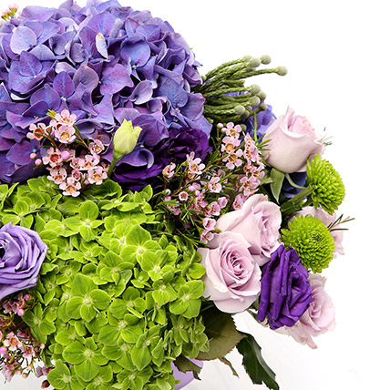 Roses and Hydrangeas Hand Tied Bunch