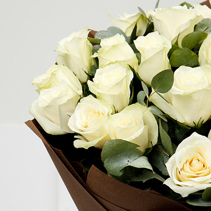 Serene 20 White Roses Bouquet
