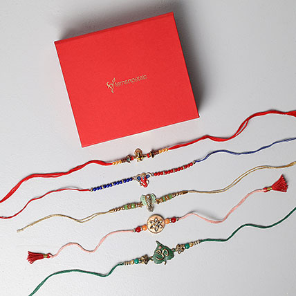 Set of 5 Stunning Rakhis For Brothers