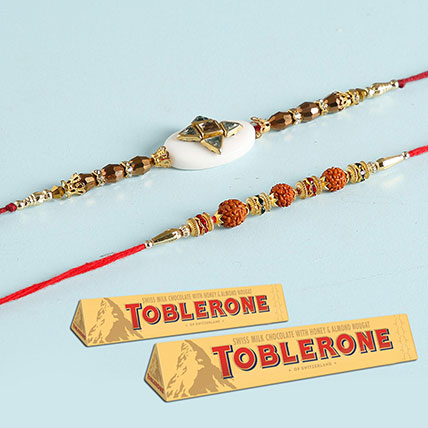 Toblerone And Designer Rakhi Special Combo