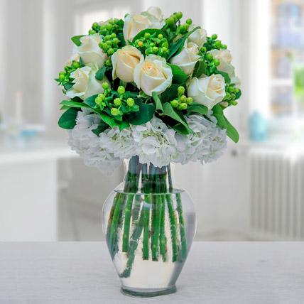 Arranged In Green N White