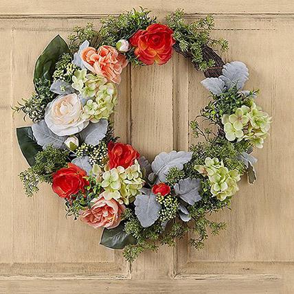 Bright Floral Wreath
