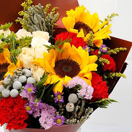 Joyful Bouquet Of Mixed Flowers