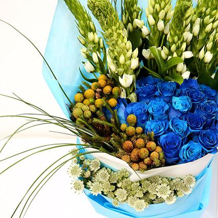 20 Splendid Blue Roses Bouquet