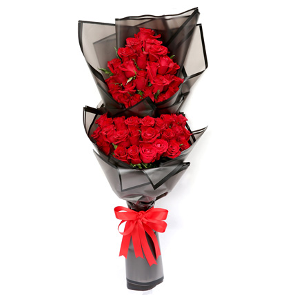 50 Luxurious Red Roses Bouquet