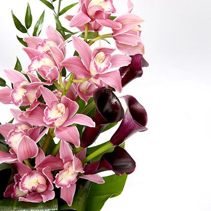 Grandeur Calla Lilies and Cymbidium Bouquet