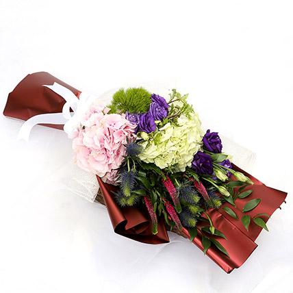 Wondrous Eryngium and Hydrangea Bouquet