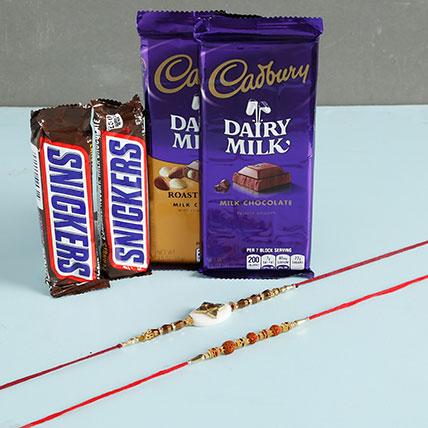 Designer Rakhis With Snickers And Cadbury