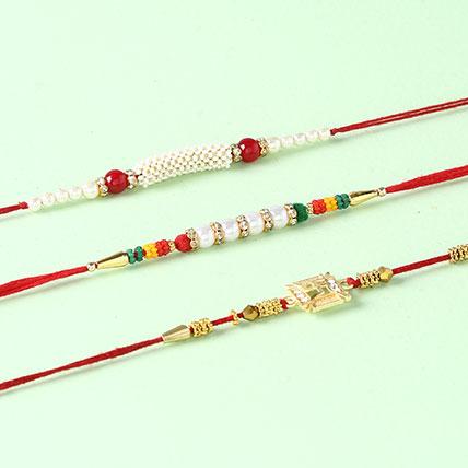 Set Of 3 Glittering Rakhis
