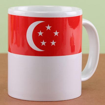 Printed Singapore Flag Ceramic Mug